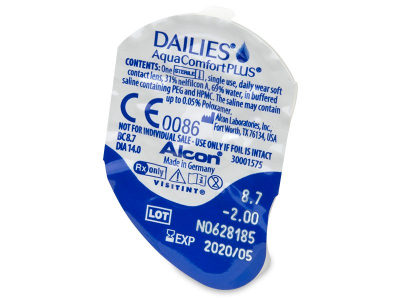 Dailies AquaComfort Plus (90 Lentillas) - Previsualización del blister
