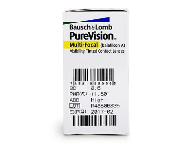 PureVision Multi-Focal (6Lentillas) - Previsualización de atributos