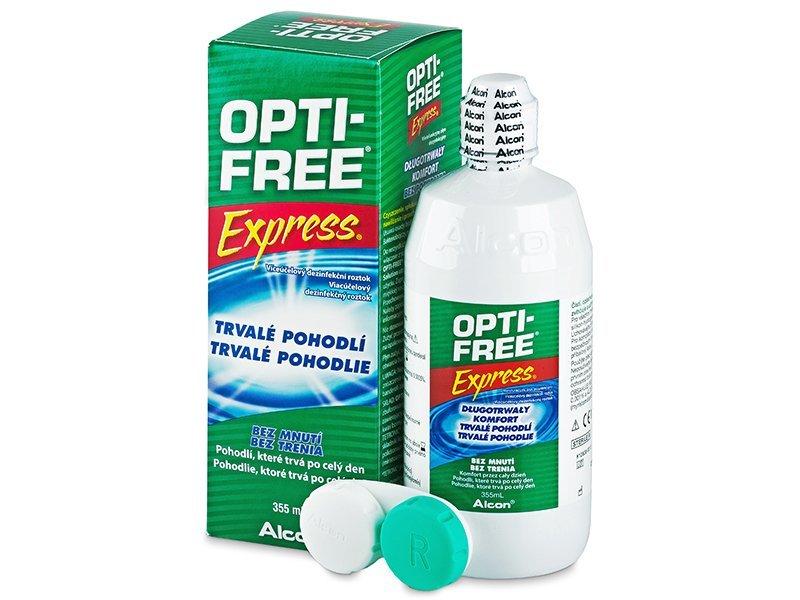 Líquido OPTI-FREE Express 355ml  - líquido de limpieza - Alcon
