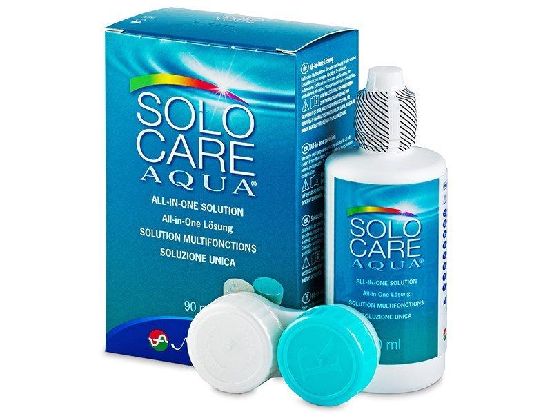 SoloCare Aqua 90ml  - líquido de limpieza - Menicon