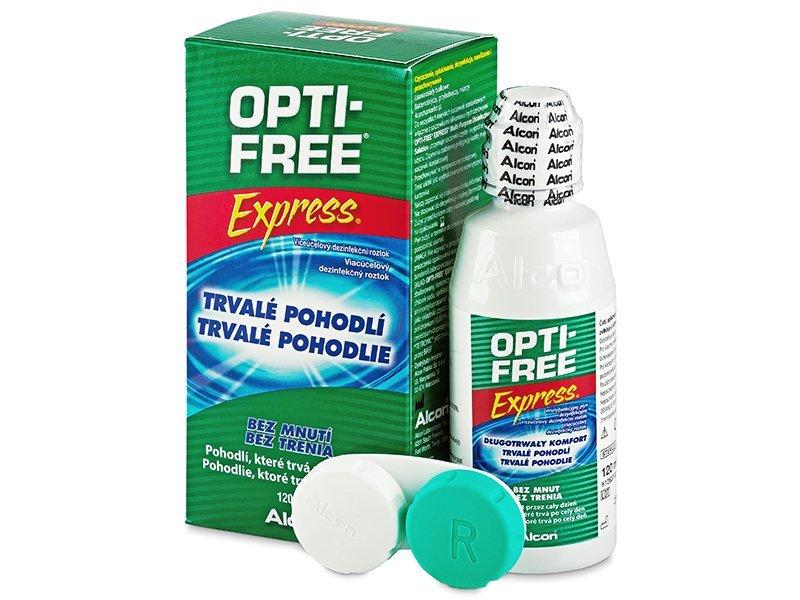 Líquido OPTI-FREE Express 120ml  - líquido de limpieza - Alcon