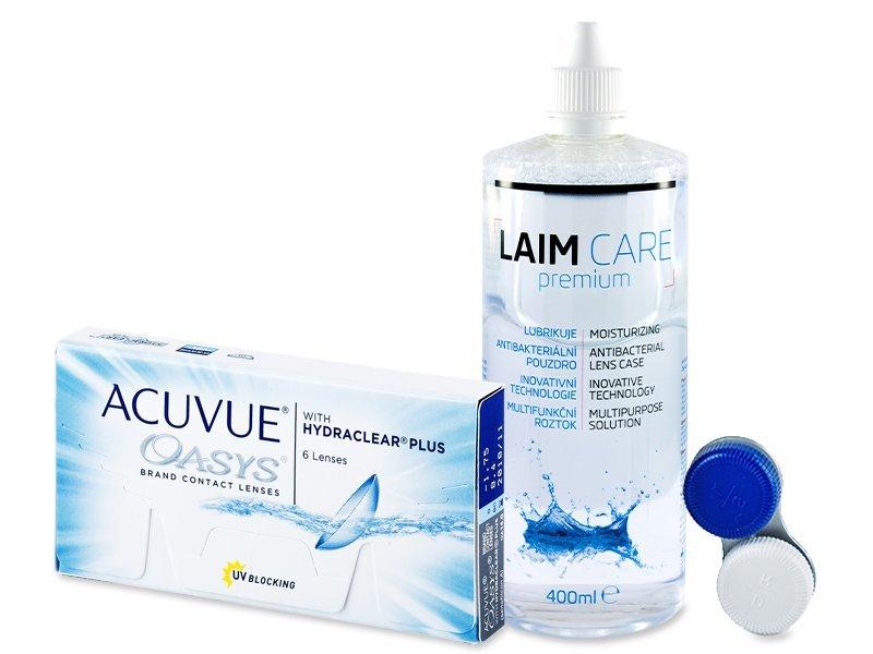Acuvue Oasys (6lentillas) + Líquido LAIM CARE 400ml - Pack ahorro