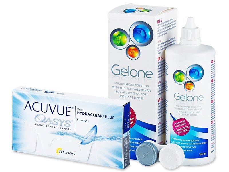 Acuvue Oasys (6lentillas) + Líquido Gelone 360ml - Pack ahorro
