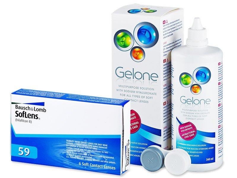 SofLens 59 (6 Lentillas) +LíquidoGelone 360 ml - Pack ahorro