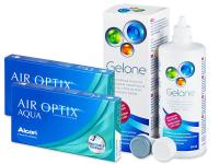 Air Optix Aqua (2x3Lentillas) +LíquidoGelone360ml - Pack ahorro