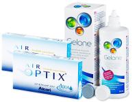 Air Optix Aqua (2x3Lentillas) +LíquidoGelone360ml - Diseño antiguo