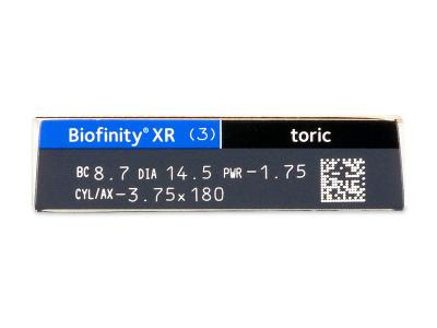 Biofinity XR Toric (3 lentillas) - Previsualización de atributos